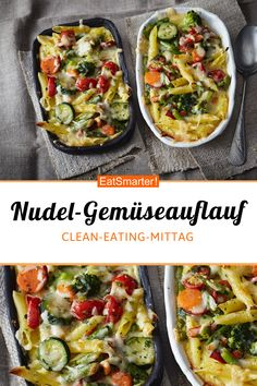 Noodle and vegetable casserole - Pasta and vegetable bake – smarter – calories: 569 kcal – time: 20 min. Vegetarian Casserole, Vegetable Casserole, Vegetarian Main Dishes, Vegetarian Lunch, Vegetarian Recipes Easy, Lunch Recipes, Casserole Recipes, Pasta Recipes, Dinner Recipes