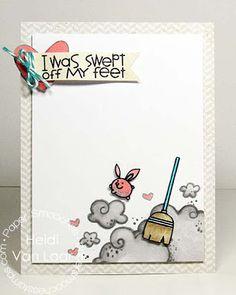 Swept Off My Feet card by Heidi Van Laar for Paper Smooches - Squeaky Clean stamp set