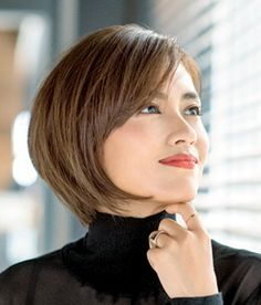 Pixie Hairstyles, Short Hairstyles For Women, Cute Hairstyles, Asian Bob, Asian Short Hair, Short Hair With Layers, Short Hair Cuts, Short Hair Styles, Stacked Hair