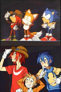 Top one is the scene from the Sonic OVA
