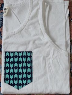 Blue Tribal Pocket Tank Top or T-Shirt