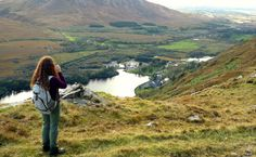 Walking through the rolling hills and open plains of South Ireland.