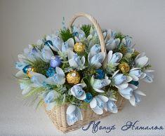 Gallery.ru / Букет из конфет Янтарный - Корзины с цветами и конфетами 400-1200 грн. - monier