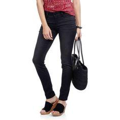 No Boundaries Juniors' Super Soft & Stretchy Skinny Jeans, Size: 1, Black