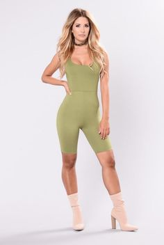 Remedy For Everything Romper - Sage Olive