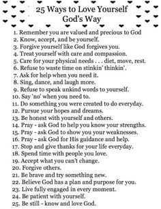 25 Ways to love yourself like God does Bible Scriptures, Bible Quotes, Teen Quotes, Scriptures About Love, Quotes Quotes, Crush Quotes, I Look To You, A Course In Miracles, Holy Mary