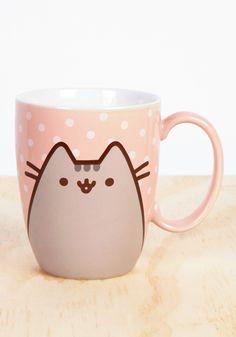 PUSHEEN Pusheen The Cat Polka Dot Coffee Mug