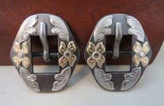 """Item 008116 - Pair New Handmade DON ROGERS ⅝"""" Headstall Buckles - Must Fish Western Tackle - Picasa Web Albums"""