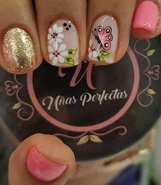 La Nails, Nail Manicure, Floral Nail Art, Hair And Nails, Hair Beauty, Lily, Nail Art, Work Nails, Enamel