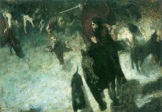 Μήπως αυτό το σκοτεινό και ζοφερό έργο τέχνης είχε προβλέψει την άνοδο του Αδόλφου Χίτλερ;   Από τη Δήμητρα Ντζαδήμα #art #painting #predict #Hitler #Stuck