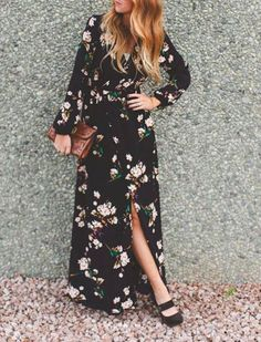 Love a Maxi Dress? Add a Sleeve for Fall