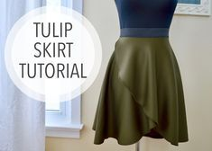Super easy Circle Skirt Hack! Tulip Skirt Tutorial!