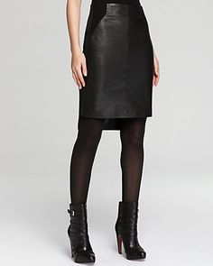 Rebecca Minkoff Skirt - Luciana Leather - Contemporary - Bloomingdale's