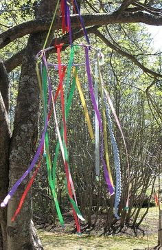 Ribbon wind chime for Beltane