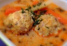 Transylvanian meatball soup with tarragon Hungarian Cuisine, Hungarian Recipes, Hungarian Food, Pasta Recipes, Cooking Recipes, Meatball Soup, Veggie Soup, Tasty, Yummy Food