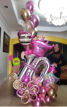 Birthday Balloon Decorations, Diy Party Decorations, Birthday Balloons, Balloon Bouquet, Balloon Arch, Balloon Garland, Baby Balloon, Balloon Gift, Balloon Surprise