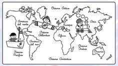 mapamundi para colorear - Buscar con Google