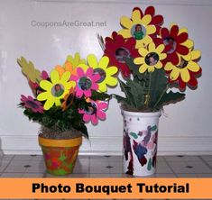 Photo Bouquet Tutorial - Perfect for Mother's Day (give to grandma)