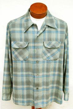 Vtg 60s Pendleton Plaid Board Shirt Distressed by RipCityRetro