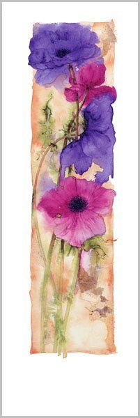 Jan Harbon watercolor Love the composition - tall and thin... colours on the rough edges...