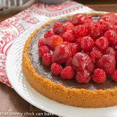 Berry Topped Chocolate Silk Tart