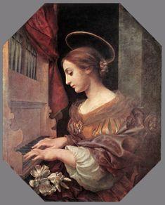 st cecilia   St. Cecilia at the Organ by Carlo Dolci.