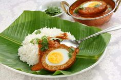 Scotch egg curry....hardboiled egg in a cover of tender meat casing.....yum!!!