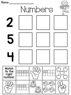 Number cut and paste worksheets and a lot more number sense fun!