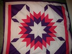 The history of Star Blankets date back before European contact, with variations of the star design stretching across North and Central America. In Manitoba, the Aboriginal Plains People would. Star Blanket, Star Designs, Central America, Blankets, Colours, Quilts, History, Stars, Purple