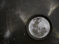 DIY Moon Dinner Plate - Lifestyle Picks Moon, Celestial, Cabinet, Studio, Diy, Eat, The Moon, Clothes Stand, Bricolage