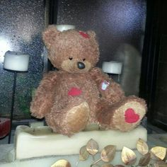 LOST in ARIZONA  Boo Boo Bear the teddy bear has 3 red patches and 2 bandades on his left arm and a heart under his left foot. He was lost at Arizona State Fair in Phoenix, AZ USA Please help us find him. Contact: https://www.facebook.com/monica.decker.16 or https://www.facebook.com/TeddyBearLostAndFound
