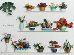 It is very convenient to make a miniature with paper . Quilling Tutorial, Quilling Flowers, Paper Quilling, Quilling Ideas, Diy And Crafts, Arts And Crafts, Paper Crafts, Cardboard Art, Cactus Flower
