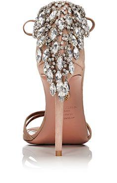 Aquazzura Eden Suede Ankle-Tie Sandals | Barneys New York