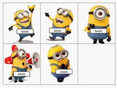 Minion Mayhem: Free editable name tags                                                                                                                                                                                 More