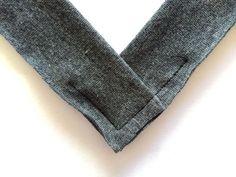 V-neck knit binding