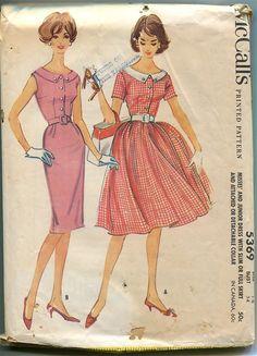 1960s McCalls 5369 Scoop Neck Shirtwaist by DesignRewindFashions, $15.00