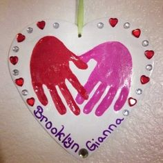 valentine's day craft with kids---have child sign own name and decorate