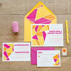 Geometric Invitation Suite SAMPLE PACK by AllisonKthln on Etsy, $10.00