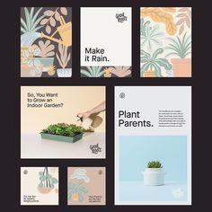 Indoor Garden, Garden Plants, Packaging Design, Branding Design, Smart Garden, Make It Rain, Hanging Plants, Made Goods, Roots