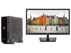 """Computador Braview Mini Truck I5M03-1 - Intel Core i5 4GB 1TB Linux + Monitor LG LED 19,5"""" com as melhores condições você encontra no Magazine Lojavirtualutil. Confira!"""