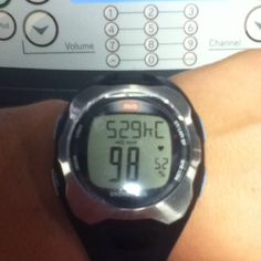 Fitness is knowing how to attack your goals. Calories is on top and heart rate in on bottom.