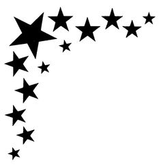 page corner borders clip art - Bing images Star Stencil, Stencil Art, Stencil Designs, Stenciling, Boarder Designs, Wood Burning Stencils, Moon Crafts, Tattoo Templates, Star Template
