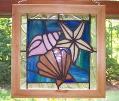 Seashell Stained Glass Patterns | Stained Glass - Sea Shells - Glass