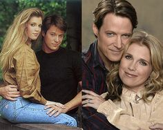 Melissa Brennan Reeves and Matthew Ashford as Jack and Jennifer (left side younger days) right side (Currently)
