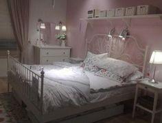 LEIRVIK Bed frame with Luroy slatted bed base - zoomly