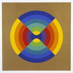 Herbert Bayer, Chromatic Intersection, 1970, screenprint on paper, 75 x 75.2 cm, Tate Britain, London. Source