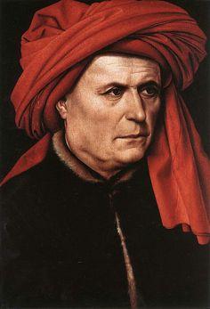 Master of Flémalle - Portrait of a Man, 1400-10, Wood, 40.7 x 28 cm, National…