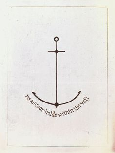my anchor holds within the veil « Trusting Or Tripping