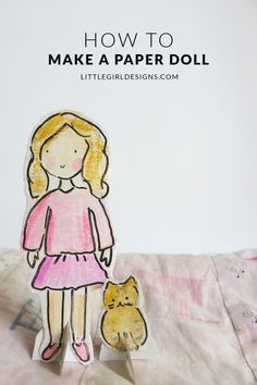 How to Make a Paper Doll - Here's a tutorial on how to make a sweet paper doll and her friend.