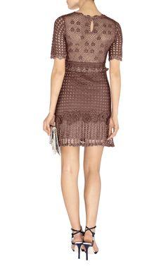 Crochetemoda Blog: Vestido Marrom de Crochet